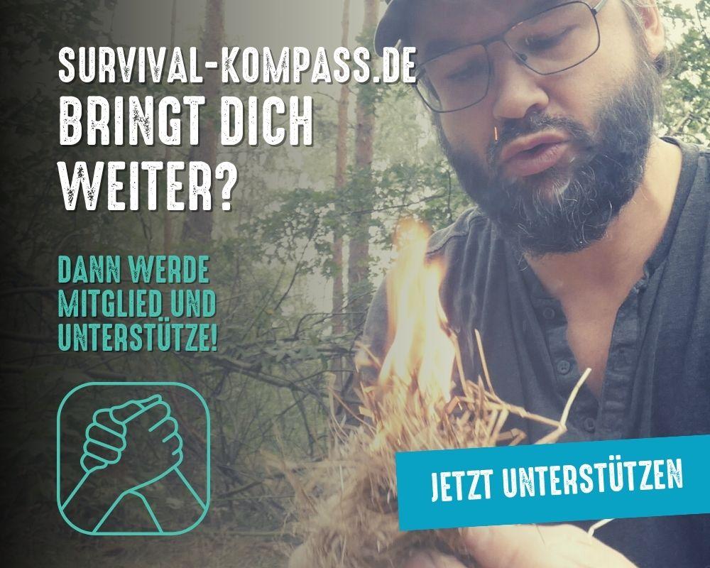 Mitglied werden und Survival-Kompass unterstützen