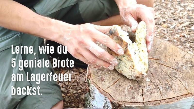 Online-Kurs 5 Brote am Lageefeuer backen