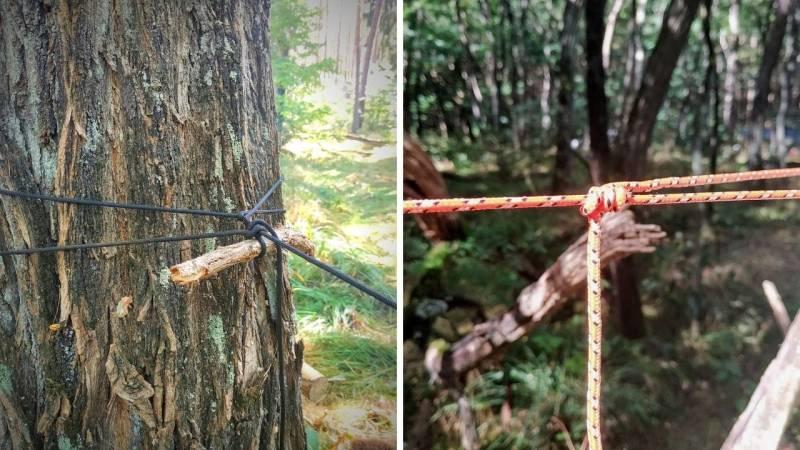 Mit den richtigen Bushcraft-Knoten bist du bestens gerüstet, um Strukturen zusammenzubinden