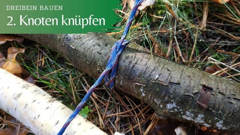 Schritt 2: Knüpfe den ersten Knoten