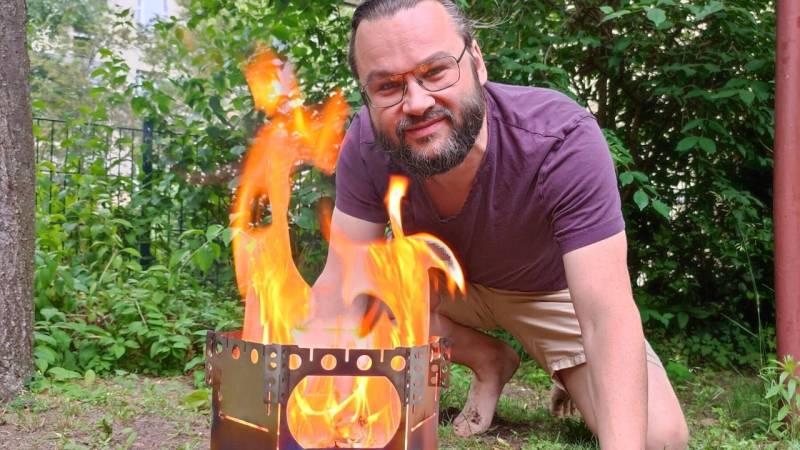 Hobo-Kocher mag ich sehr – auf dem Bild siehst du mich mit dem Flexfire 6
