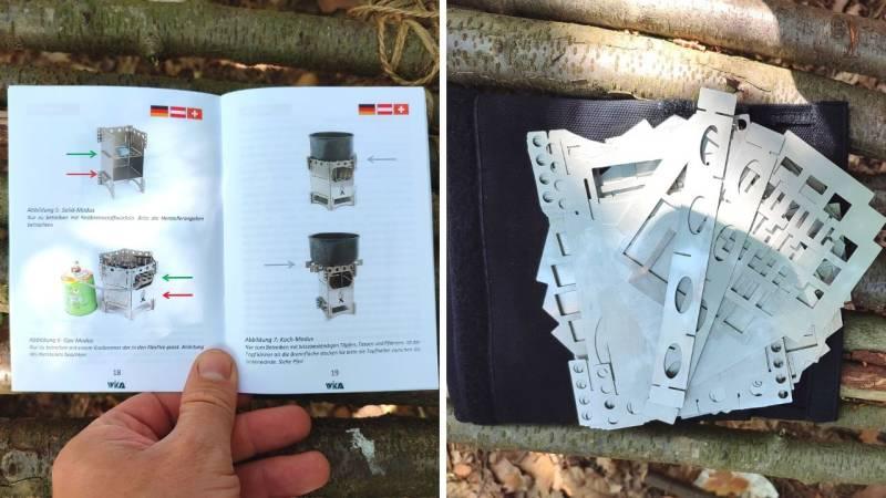 Die Anleitung ist für den FlexFire ist mehrsprachig und es gibt eine robuste Tasche für die Steckelemente