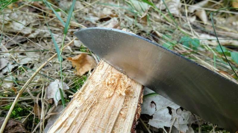 Holzspäne abschaben für Zunder