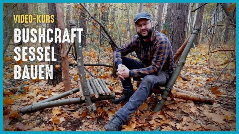 Baue dir deinen eigenen Bushcraft-Sessel in unter einer Stunde