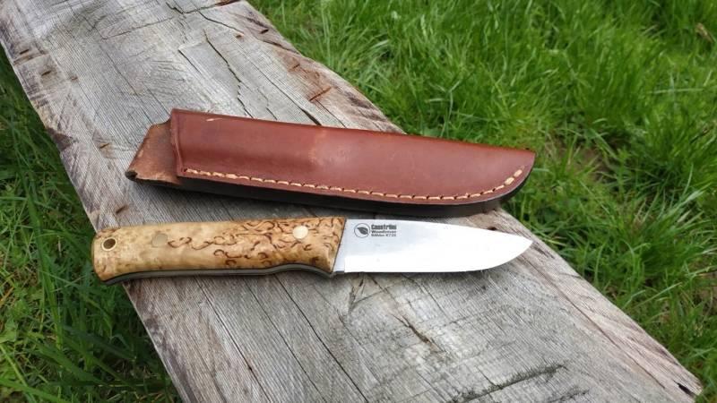 Mein Messer, dass Casström Woodsman, ist mein treuster Begleiter