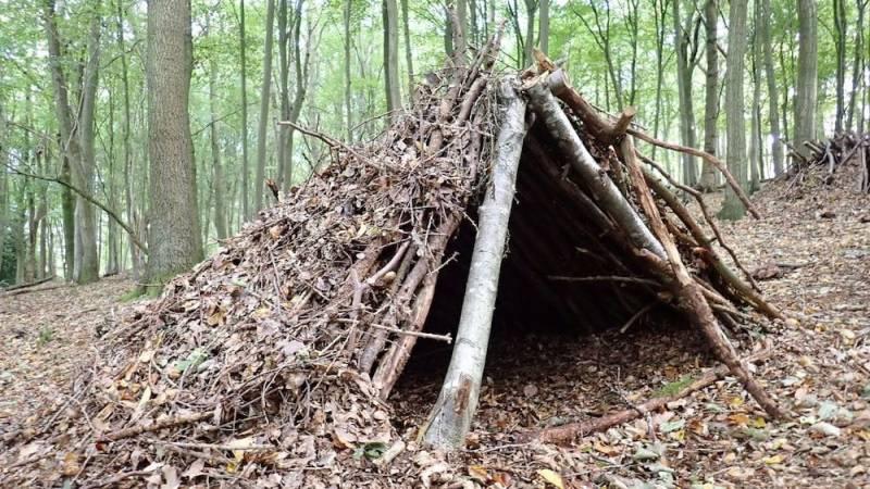 Wie du ein Bushcraft Shelter baust [Anleitung]