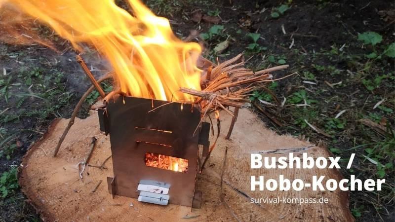 Der Hobo-Kocher: Leicht und mit Brennstoff aus dem Wald benutzbar