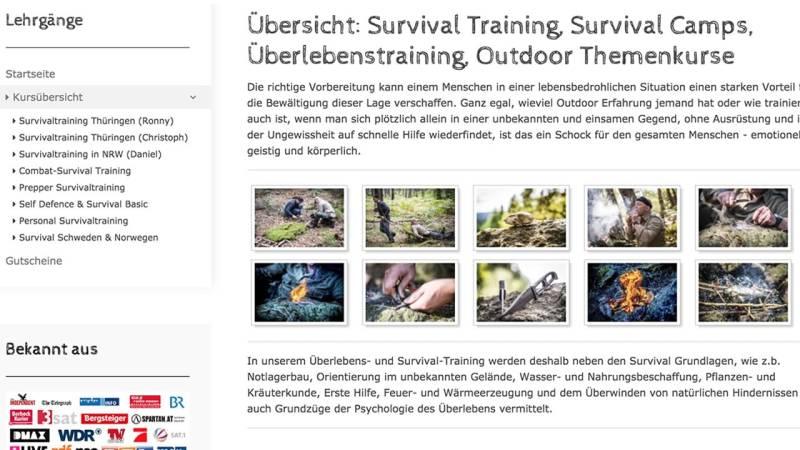 Personal Survival Training in Thüringen/Hessen von Team-Survival