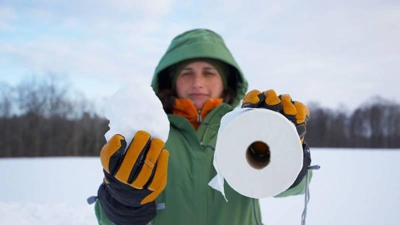 Schnee ist perfekt zum Abwischen deines Hinterns