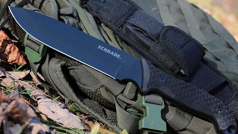Das Schrade Survival-Messer ist 6 mm dick und besitzt eine Klingenlänge von fast 18 cm