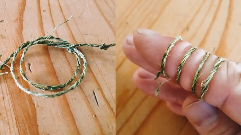 Dein fertiges Seil ist reißfest und kann sofort benutzt werden