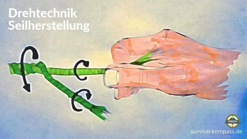 Die Drehtechnik bei der Seilherstellung