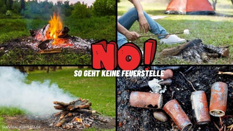 Abschreckende Beispiele von Feuerstellen