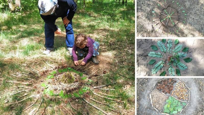Bei Wald-Mandalas können Kinder kreativ sein – es gibt keine Regeln