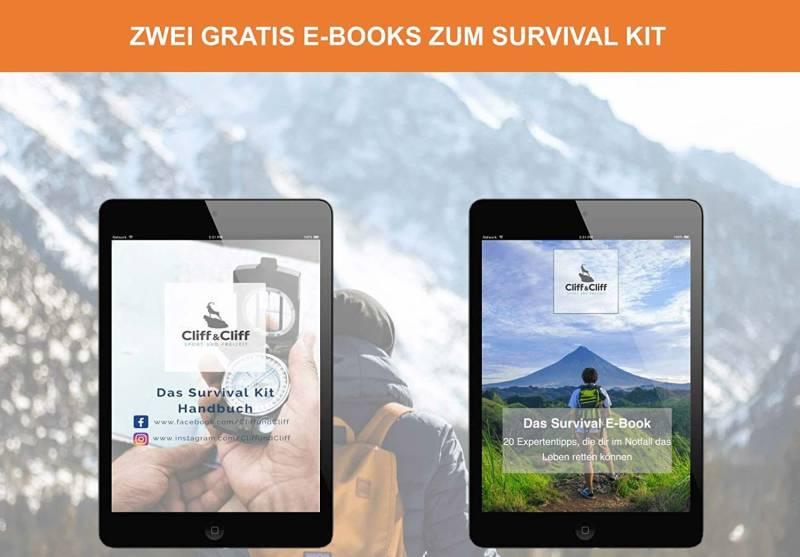Manche Hersteller bieten eBooks an zu ihren Survival Kit's an