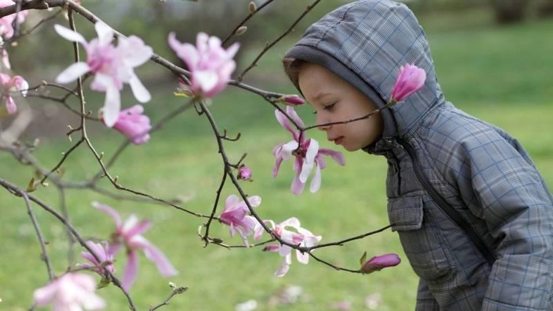 Gegenstände riechen und erschnüffeln macht Kindern viel Spaß