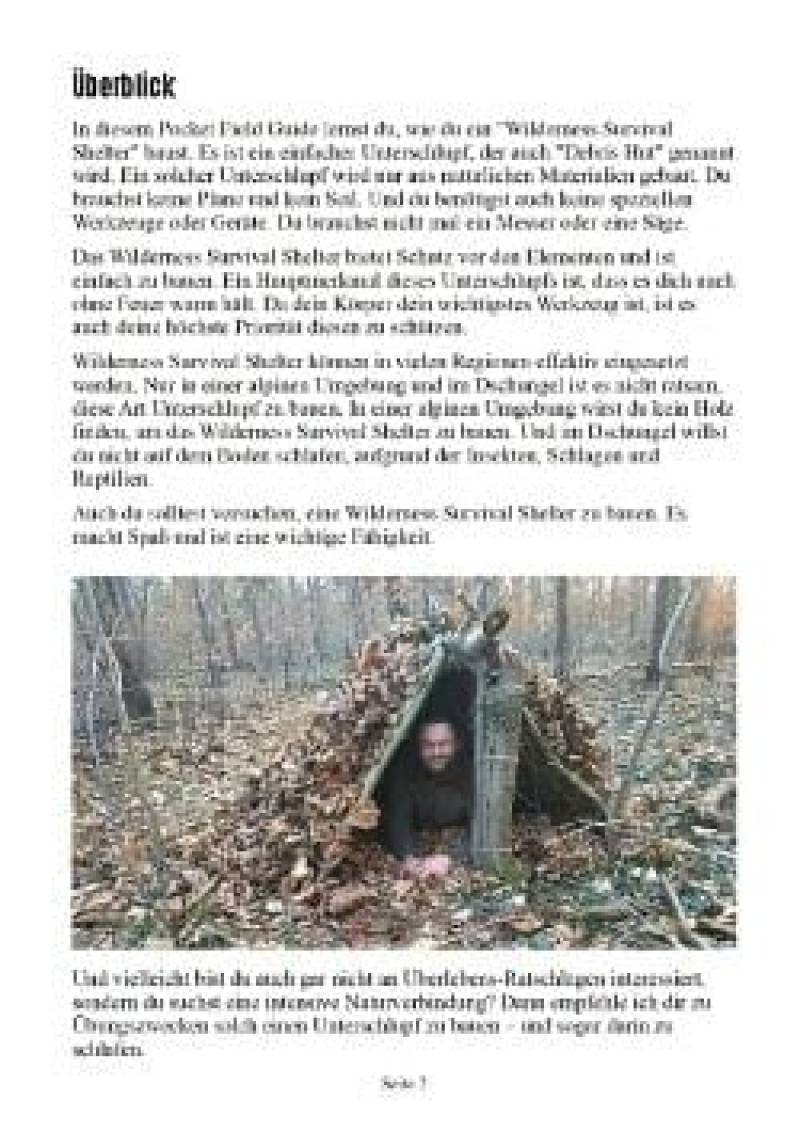 Vorschau Bild 1 zum E-Book Pocket Field Guide: Wilderness Survival Shelter