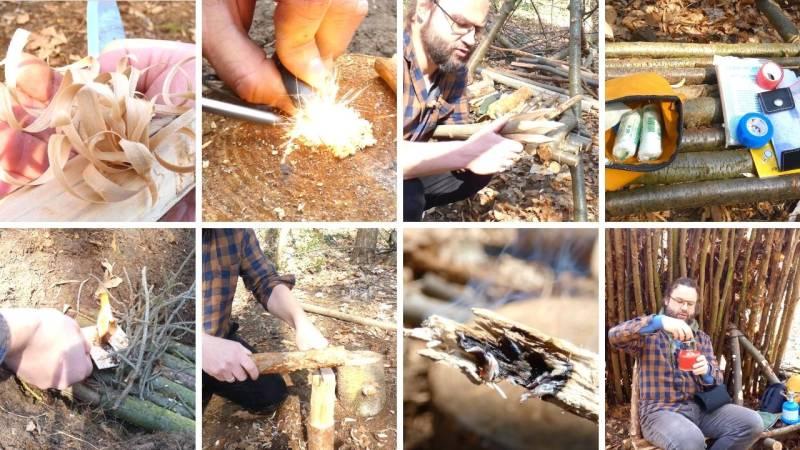 In meinem Wildimpuls-Programm lernen wir zusammen mit Video-Kursen es uns in der Natur einzurichten und Outdoor-Projekte umzusetzen