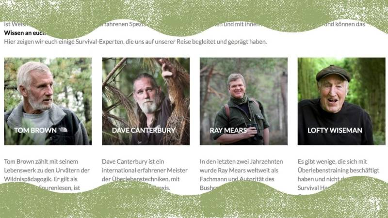 Die Vorbilder der Wildnisschule Lupus sind weltweit bekannte Survival- und Bushcraft-Experten