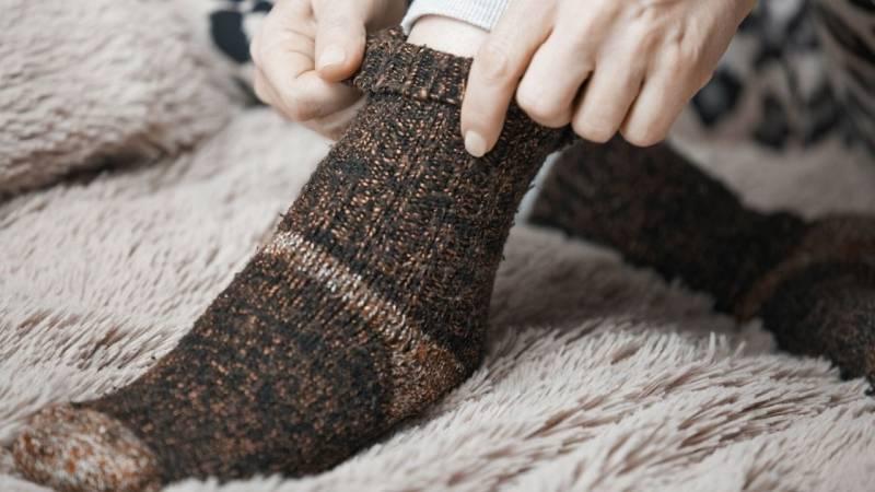 Gegen kalte Füße helfen am besten Wollsocken